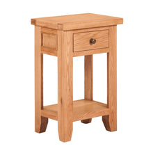 Waxed Canterbury Oak 1 Drawer Console Table - HomePlus Furniture