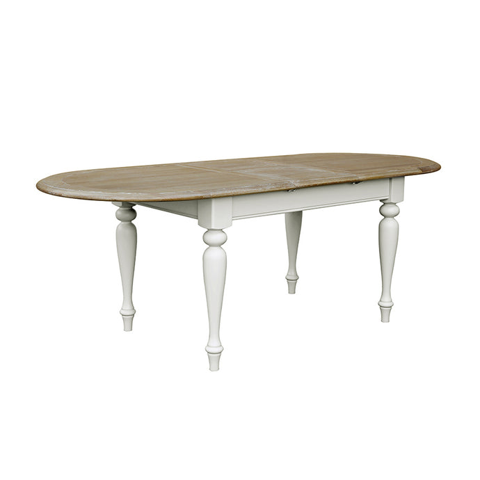 Charlotte Light Oval Extending Dining Table