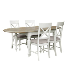 Charlotte Oval Extending Dining Table Set - Light