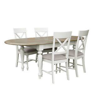 Charlotte Oval Extending Dining Table (1.8 m-2.3 m) - Charlotte - HomePlus Furniture
