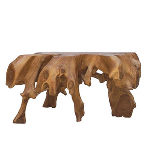 Teak Root Round Coffee Table | Without Glass - HomePlus Furniture