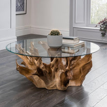 Teak Root Round Coffee Table - HomePlus Furniture