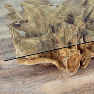Teak Root Square Coffee Table - HomePlus Furniture