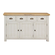 Cotswold Wimbourne Pine 4 Drawer 3 Door Sideboard