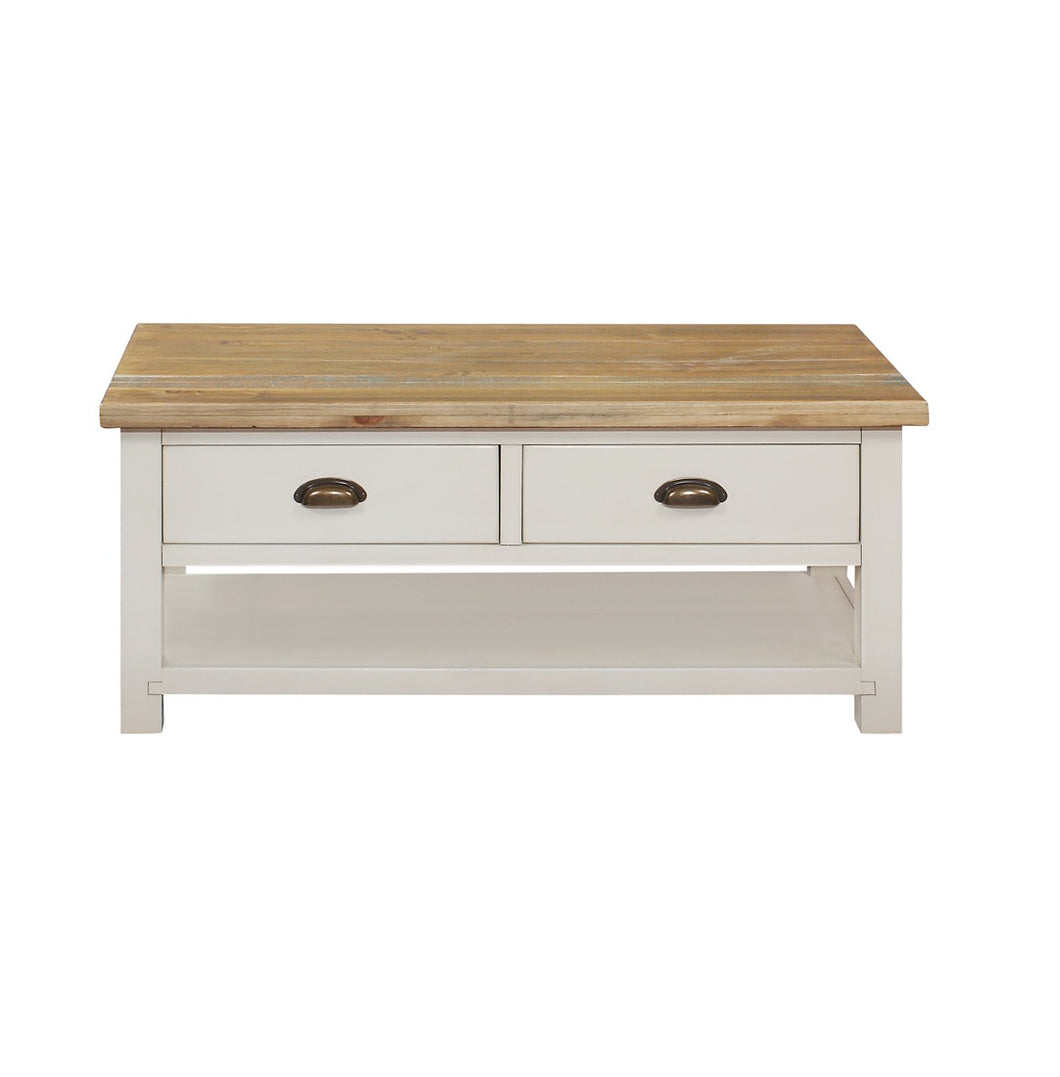 Cotswold Wimbourne 2 Drawer Coffee Table - HomePlus Furniture