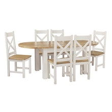 Cotswold Wimbourne Pine Oval Extending Dining Table (1.8 m-2.2 m)