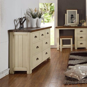 Cotswold Wimbourne 3 Over 4 Chest Of Drawers - Cotswold Pine - HomePlus Furniture