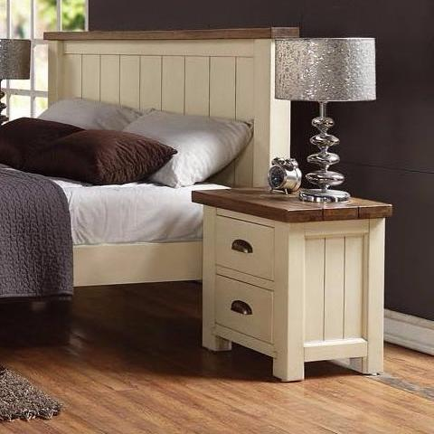Cotswold Wimbourne Pine 2 Drawer Bedside Table