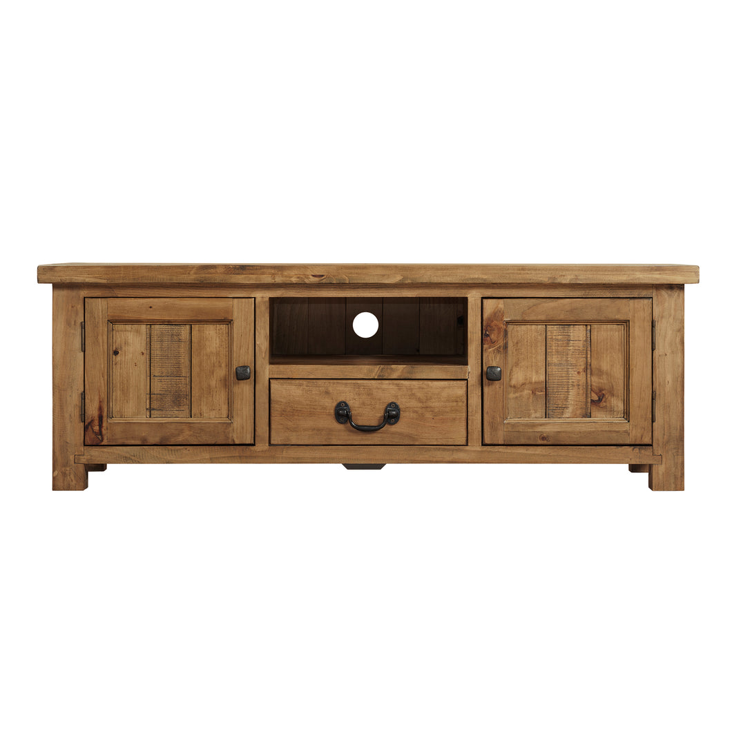 Cotswold 2 Door 1 Drawer TV Unit - Cotswold Pine - HomePlus Furniture