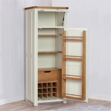 Cambridge White Painted Oak Pantry Unit - HomePlus Furniture