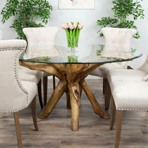 Large Teak Root Carving Dining Table - HomePlus Furniture