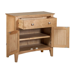 Hansen Oak 2 Door 1 Drawer Cupboard - HomePlus Furniture