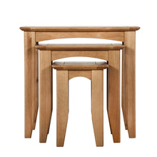 Hansen Oak Nest of 3 Tables - HomePlus Furniture