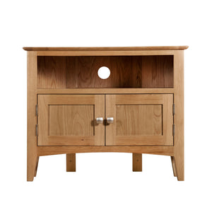 Hansen Oak Corner TV Unit - HomePlus Furniture