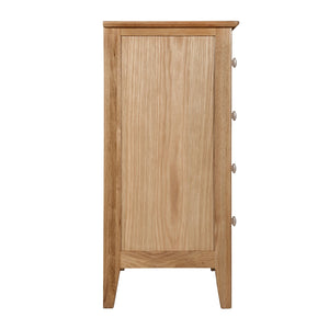 Hansen Oak 2 Over 3 Chest Of Drawers - HomePlus Furniture