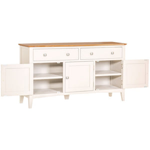 Eva Shaker Oak 3 Door Sideboard - HomePlus Furniture