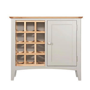Eva Shaker Oak Wine Cabinet - HomePlus Furniture
