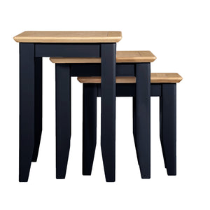 Eva Shaker Oak Nest of 3 Tables - HomePlus Furniture