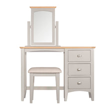 Eva Shaker Oak Dressing Table Railings Charleston Grey