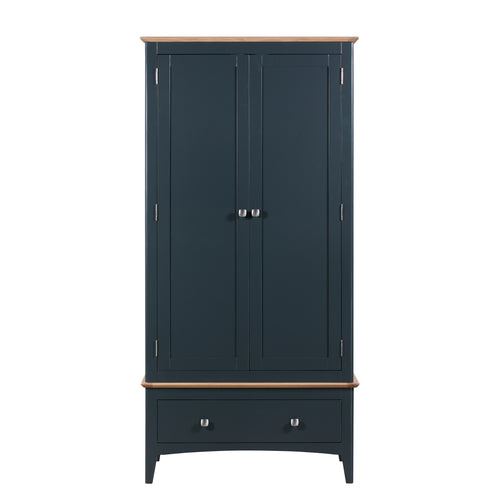 Eva Shaker Oak 2 Door 2 Drawer Wardrobe Railings