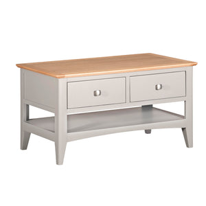 Eva Shaker Oak 2 Drawer Coffee Table - HomePlus Furniture
