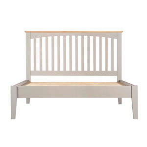 Eva Shaker Oak 4ft 6' Double Bed - HomePlus Furniture