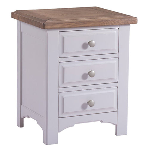 Georgia Grey Painted 3 Drawer Bedside