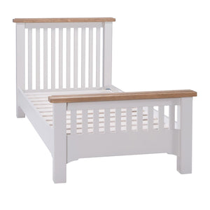 Georgia Grey Painted Oak 3ft Single Bed - HomePlus Furniture