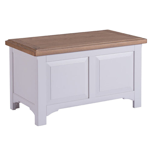 Georgia Grey Painted Oak Blanket Box