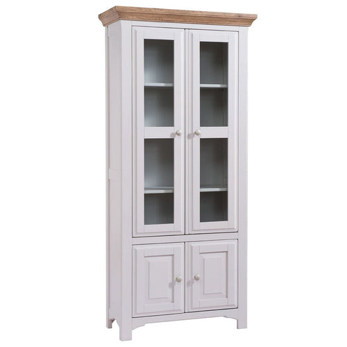 Georgia Grey Painted Oak Display Cabinet