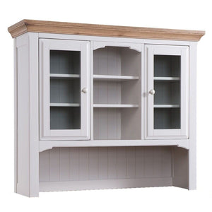 Georgia Grey Painted Oak Large Sideboard & Hutch - HomePlus Furniture