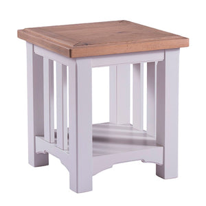Georgia Grey Painted Oak Lamp Table