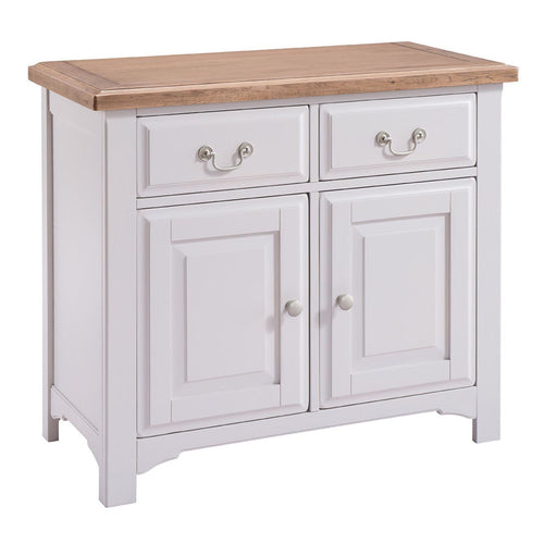 Georgia Grey Painted Oak 2 Door 2 Drawer Sideboard