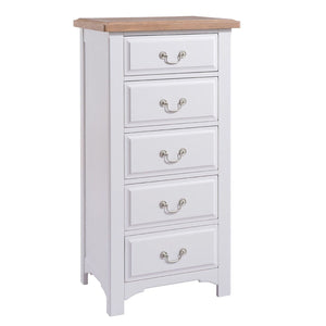 Georgia Grey Painted Oak 5 Drawer Chest