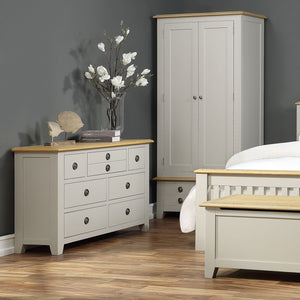 Oxford Painted Oak 3 Drawer Bedside Table - Oxford Painted Oak - HomePlus Furniture