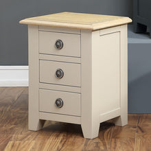 Oxford Painted Oak 3 Drawer Bedside Table - HomePlus Furniture