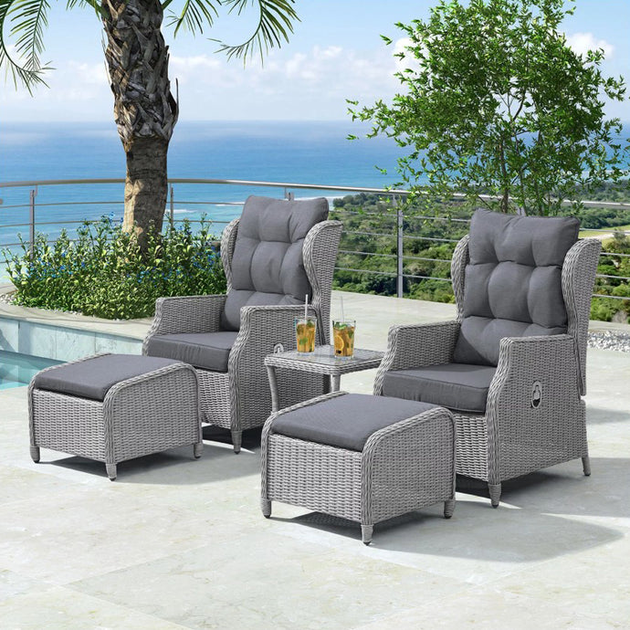 Nicholas Reclining Lounge Companion Set | New - HomePlus Furniture