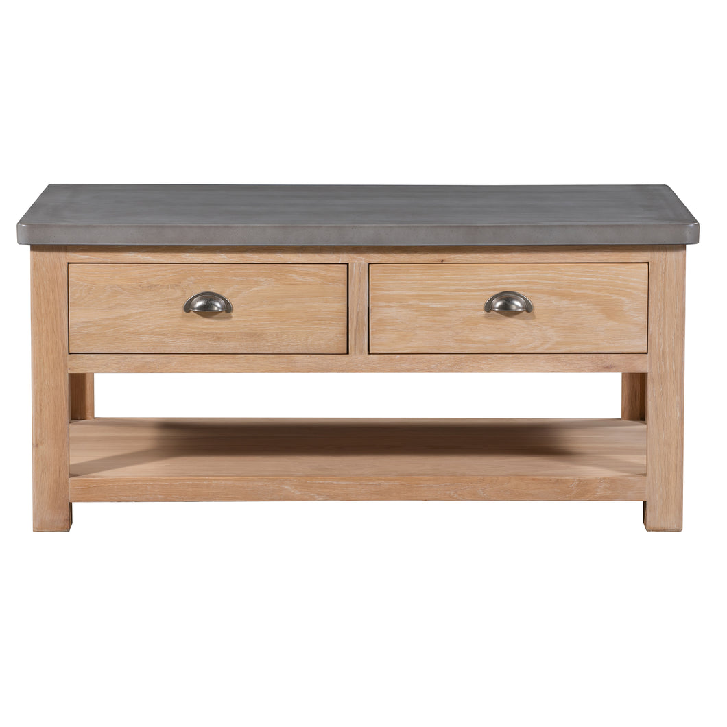 Cromer 2 Drawer Coffee Table - HomePlus Furniture