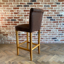 Luxury Suede Bar Stool | Brown - HomePlus Furniture
