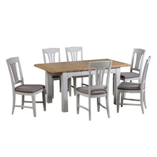 Georgia Grey Painted Oak Extending Dining Table (1.2 m-1.6 m) - Georgia - HomePlus Furniture