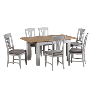 Georgia Grey Painted Oak Extending Dining Table (1.2 m-1.6 m) - HomePlus Furniture