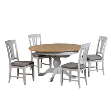 Georgia Grey Painted Oak Round Extending Dining Table (1.1 m-1.4 m) - Georgia - HomePlus Furniture