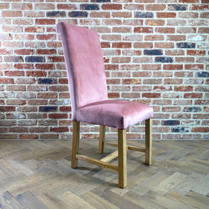 Kelvin Velvet Dining Chair | Blush - HomePlus Furniture