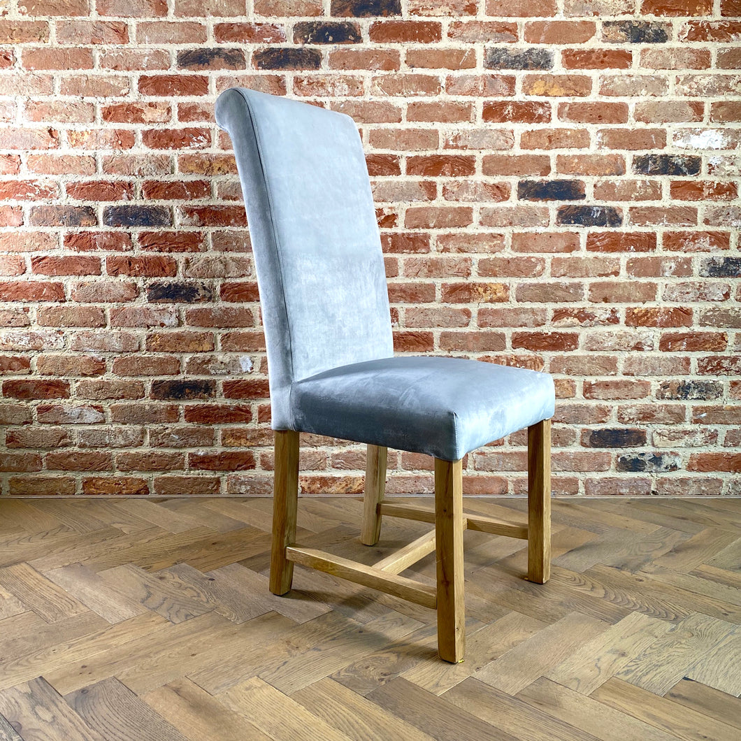 Kelvin Velvet Dining Chair | Silver - HomePlus Furniture