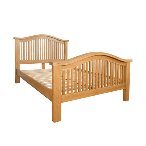Canterbury Oak 5ft Kingsize Curved Bed - Canterbury Oak - HomePlus Furniture