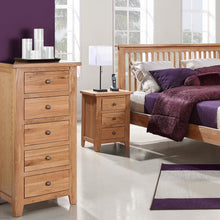 Mini Waxed Canterbury 5 Drawer Wellington Chest - Mini Waxed Canterbury - HomePlus Furniture
