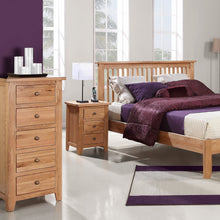 Waxed Canterbury Oak 3 Drawer Bedside - HomePlus Furniture