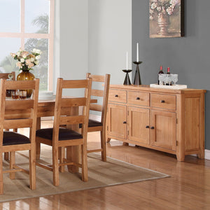 Waxed Canterbury Oak Mini Sideboard - HomePlus Furniture