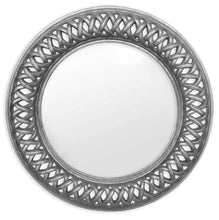 Lancaster Circular Mirror | Silver - HomePlus Furniture