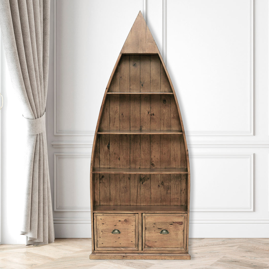 Oxford Light Pine Boat Bookcase